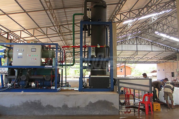 Big Capacity Tube Ice Machine in Laos (1)
