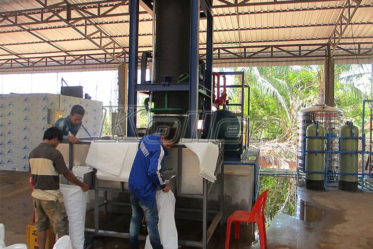 Big Capacity Tube Ice Machine in Laos (3)